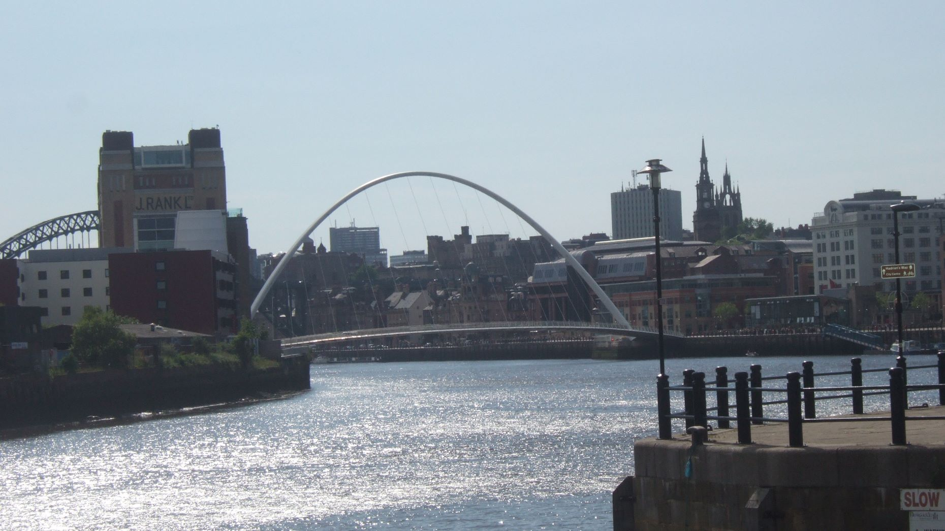 Newcastle Quayside from the Tyne