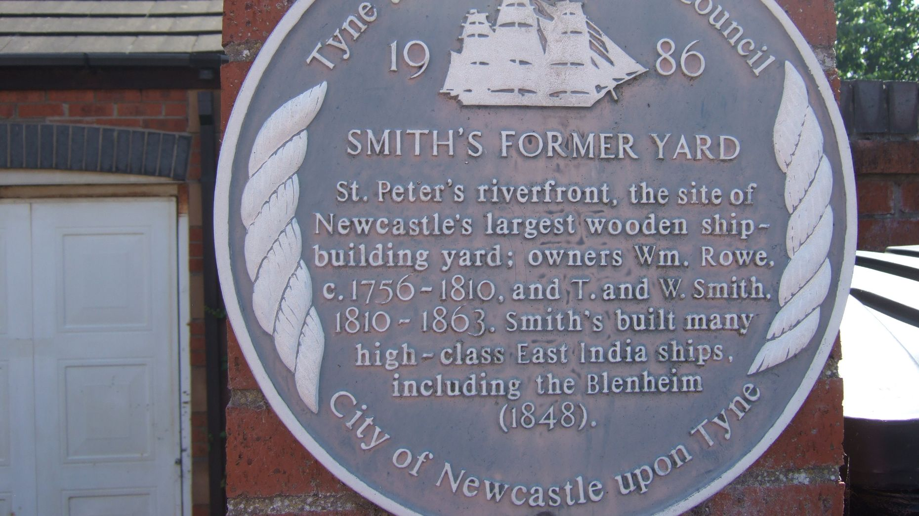 Smiths Yard sign, Rowes Mews, Newcastle upon Tyne